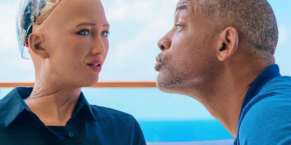 """VIDEO: La accidentada cita entre Will Smith y la robot """"Sophia"""""""