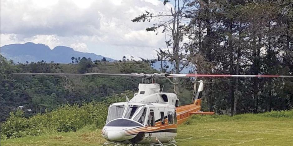 ...Y el chiapaneco sufre un susto en helicóptero