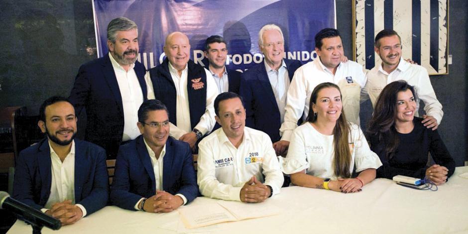 Firma Amílcar proyecto de seguridad con México SOS