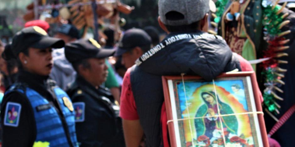 Detienen a 8 personas durante festejo en la Basílica de Guadalupe