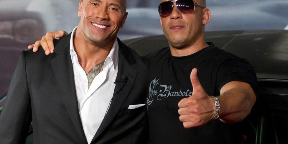"""""""The Rock"""" revela detalles sobre su pelea con Vin Diesel"""