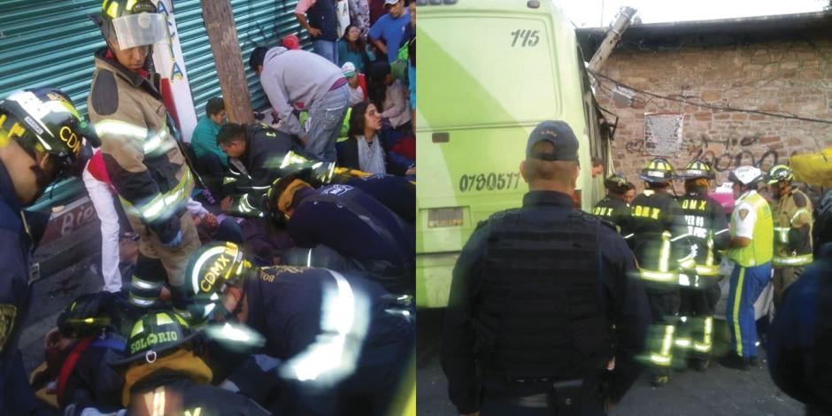 Choque de micro en la GAM deja 30 heridos
