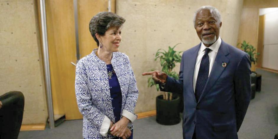 Magistrados del TEPJF reciben a Kofi Annan