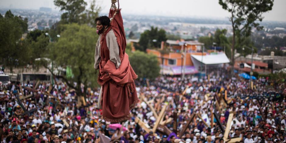 Reportan saldo blanco en representación de la Pasión de Cristo en Iztapalapa