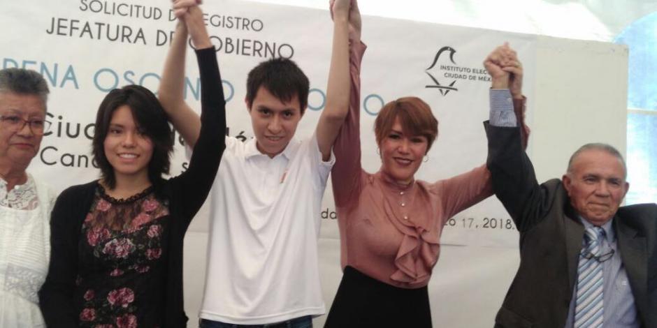 Lorena Osornio se registra como candidata independiente a la Jefatura de la CDMX
