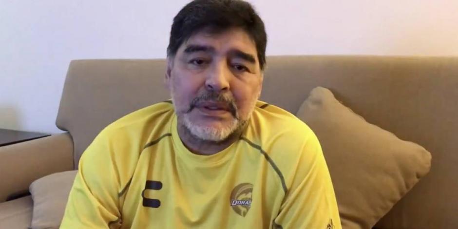 VIDEO: ...Y Maradona urge apoyos por emergencia