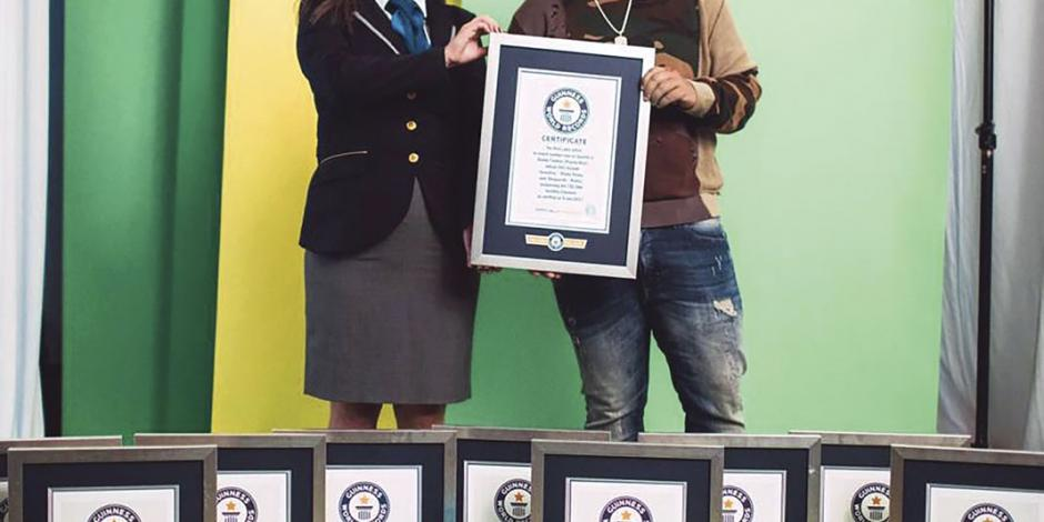 Daddy Yankee impone 10 Récords Guinness