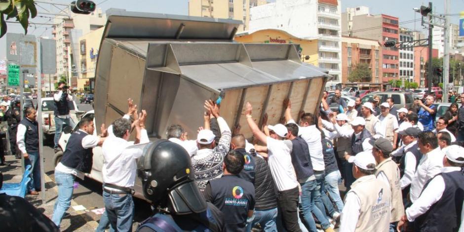 Delegación Benito Juárez refuerza acciones para reordenar al comercio en vía pública