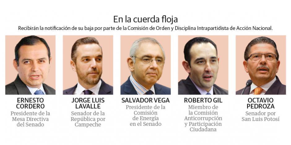 """Por """"rebeldía y traición"""", alista PAN expulsión de 5 senadores"""