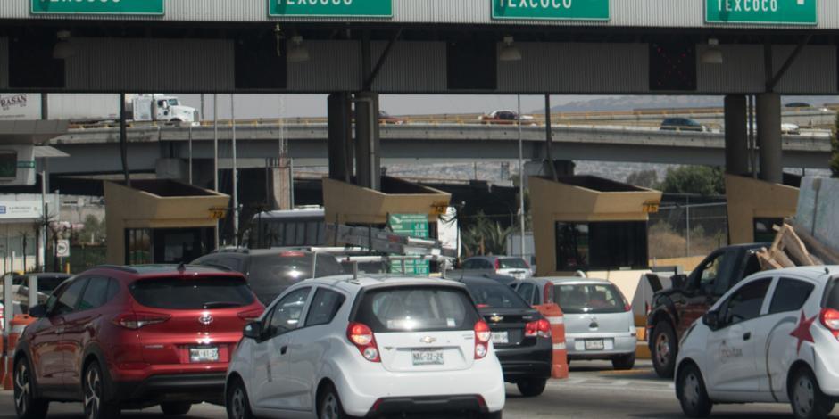 México- Pachuca con mayor aforo vehicular; salen 42 autos por minuto