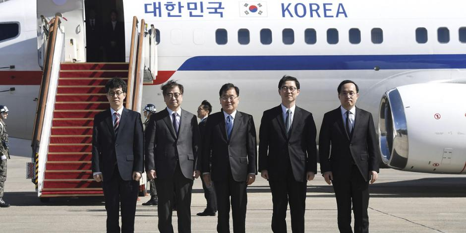 Kim recibe a una comitiva del sur; se abre al diálogo