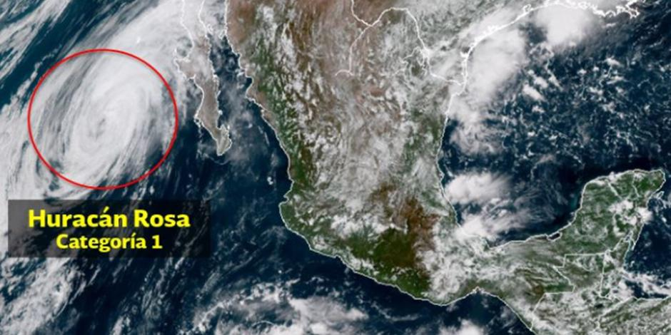 Huracán Rosa impactará este lunes la península de Baja California
