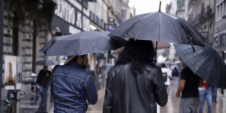 Prevén lluvias e intervalos de chubascos en CDMX
