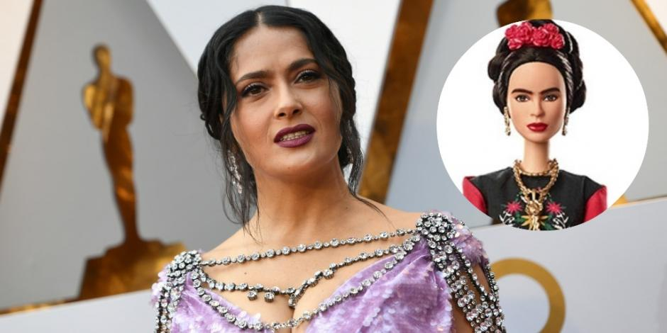 Salma Hayek critica belleza de Barbie Frida Kahlo