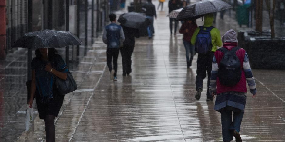 Siguen lluvias, en especial, al poniente de la CDMX