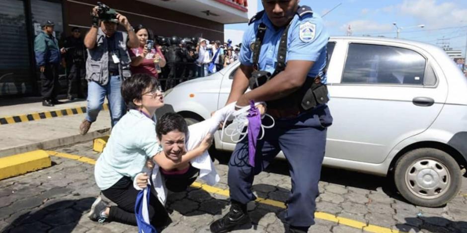VIDEOS: Policía Nacional reprime manifestación en Nicaragua