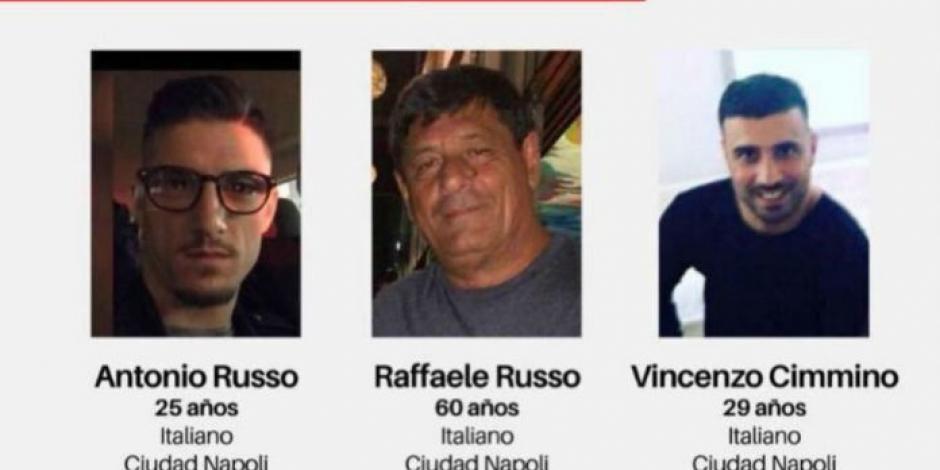 Suben recompensa por información de los 3 italianos desaparecidos en Jalisco