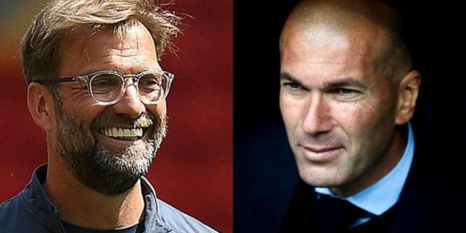Zidane y Klopp, dos maneras de sonreír