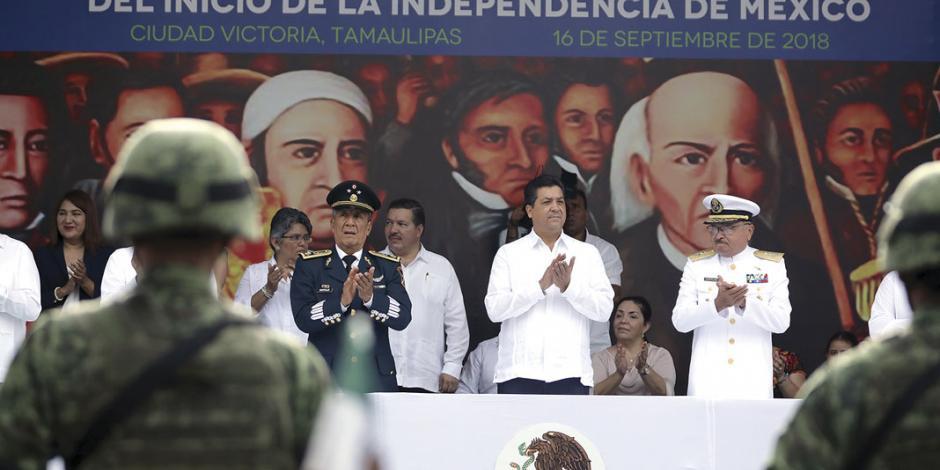 En Tamaulipas marchan 45 contingentes