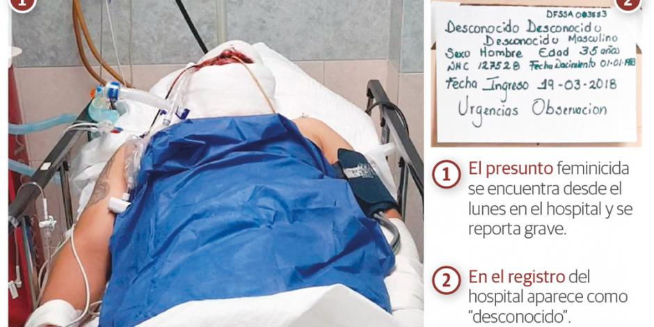 Inducen a coma al asesino de mujer baleada en Reforma 222