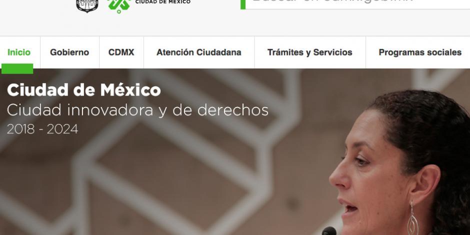 Estrena logotipo el gobierno de la CDMX en sitios web y redes sociales