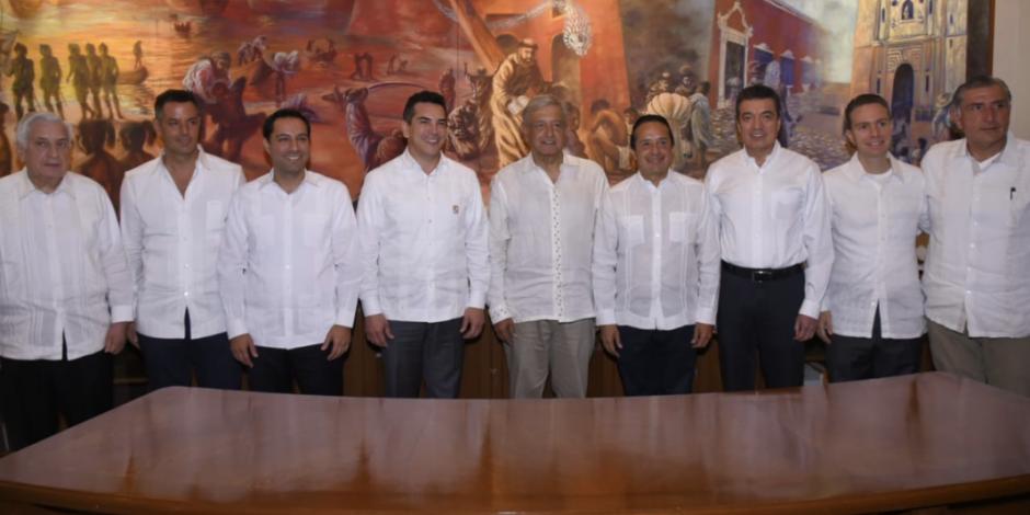 Tren Maya traerá beneficios para la región sur-sureste: gobernadores