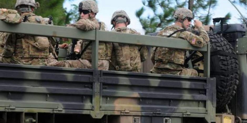 Gobierno de EU prevé enviar 800 militares a frontera sur