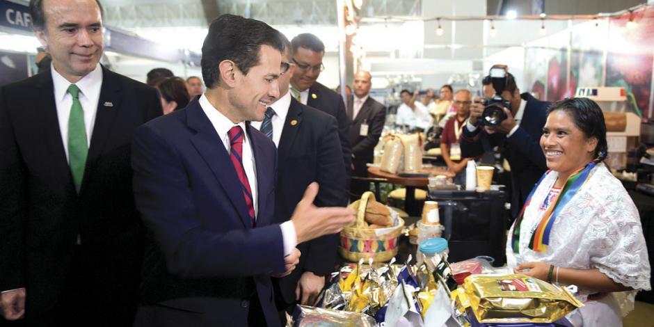 Afirma EPN que entrega sector agroalimentario en expansión