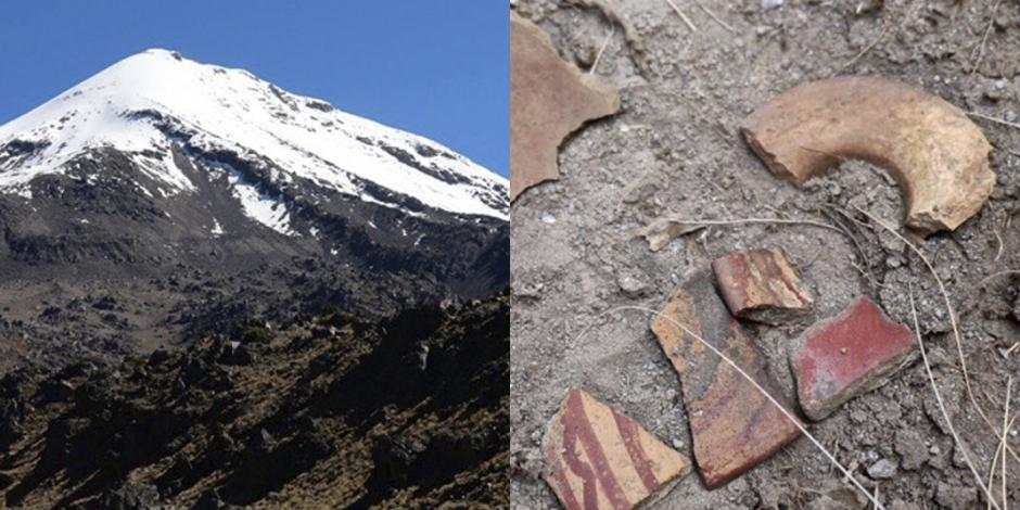 Con ayuda de dron, hallan sitio arqueológico en el Pico de Orizaba