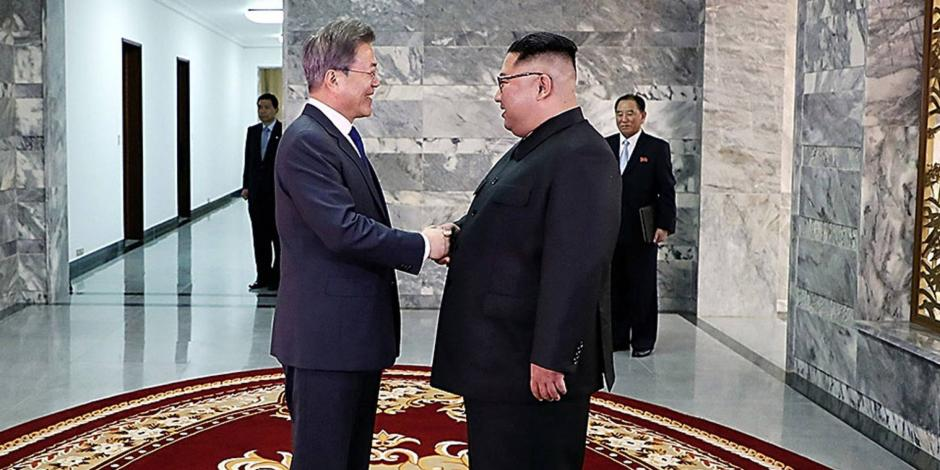 Sorprenden líderes de ambas Coreas con reunión