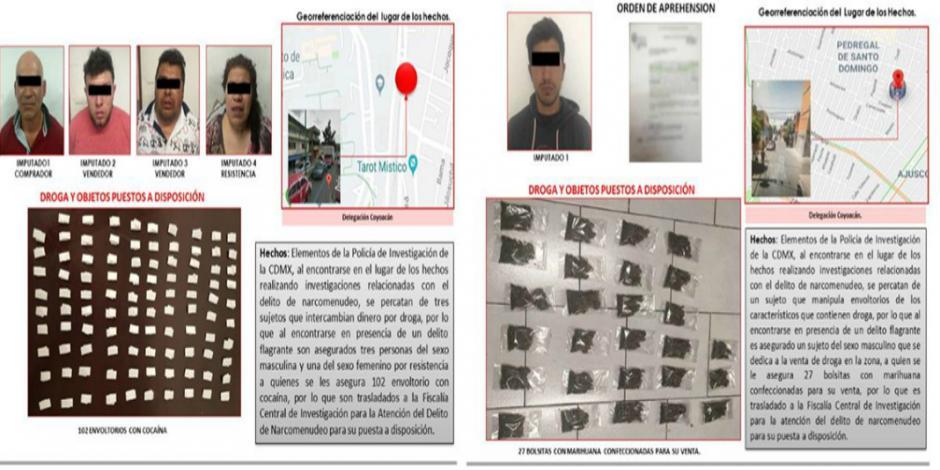 Vinculan a proceso a 5 narcomenudistas detenidos en inmediaciones de la UNAM