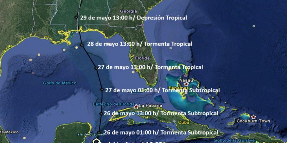 Avanza tormenta Alberto en el Caribe con riesgo para México