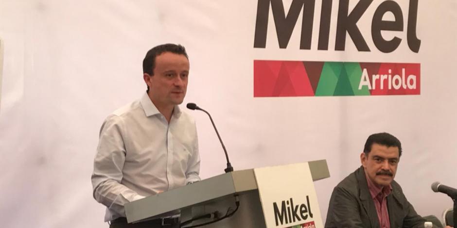 Advierte Mikel Arriola mano dura contra la corrupción y delincuencia