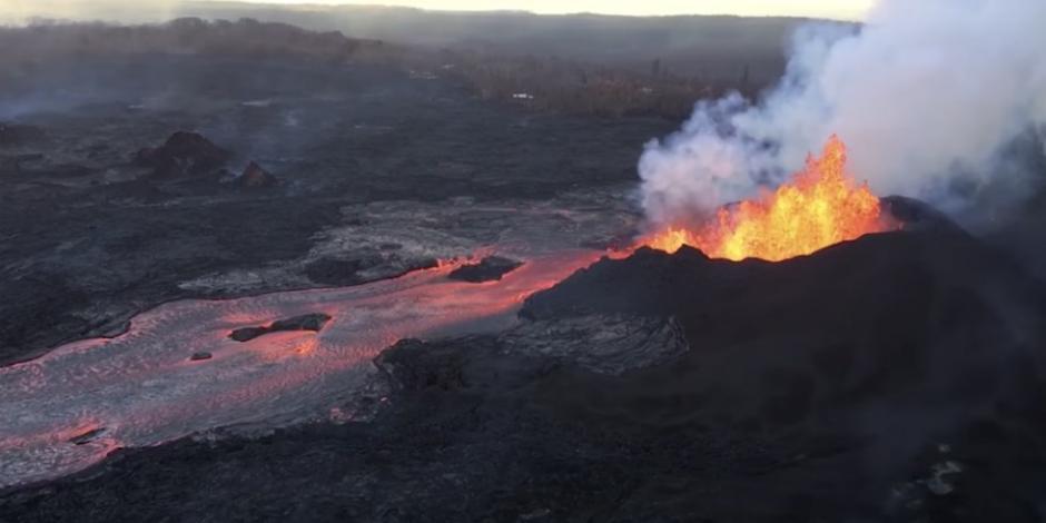 VIDEO: Difunden dramáticas imágenes de la erupción del Kilauea