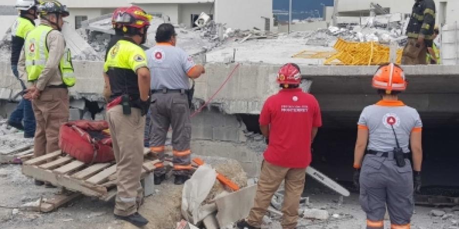 Rescatan a última persona desaparecida en derrumbe de Monterrey