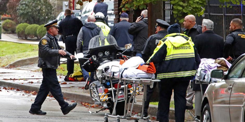 Ataque a sinagoga en Pittsburg deja 11 muertos y seis lesionados