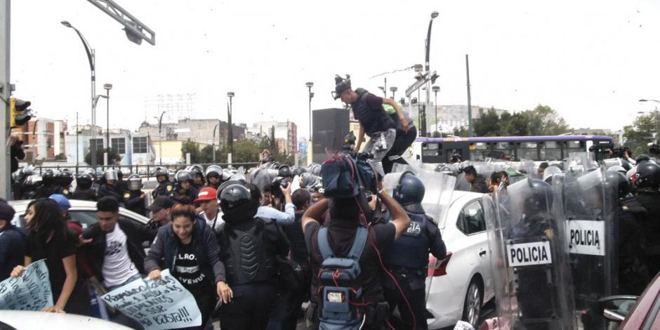 Mafia de Tepito organiza marcha contra policía