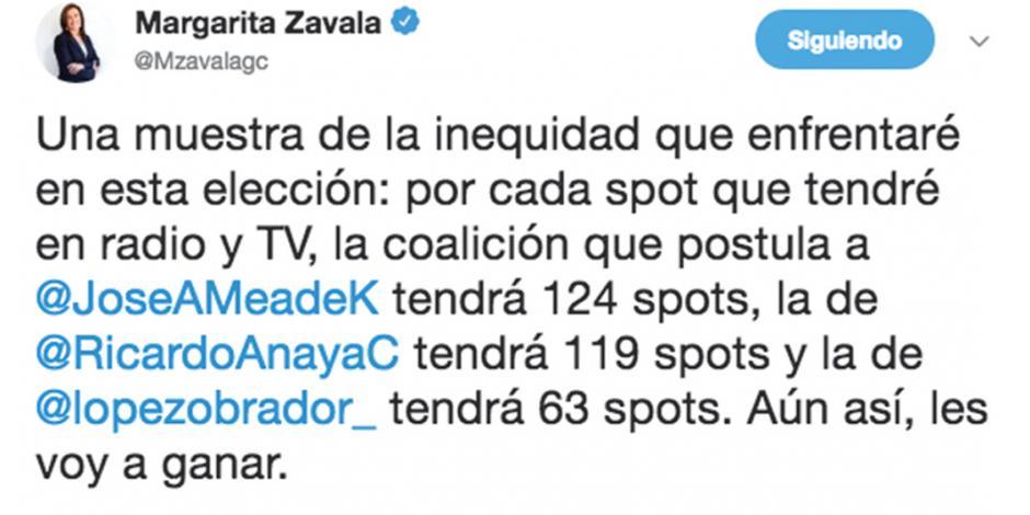 Critica Margarita inequidad en spots