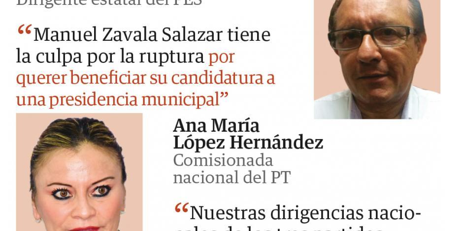 En Campeche se rompe alianza Morena-PES-PT