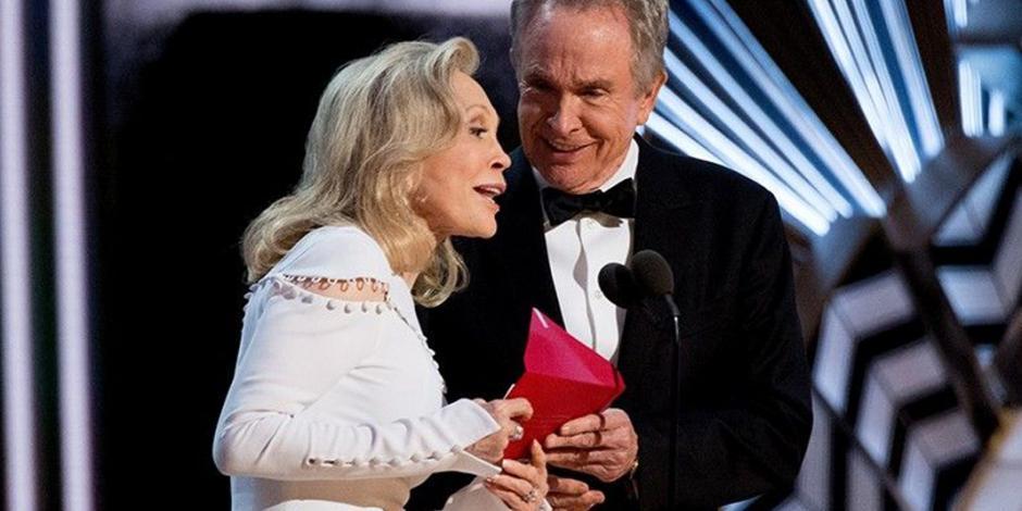 Pese a error, eligen a Beatty y Dunaway para entrega de Oscar a mejor película