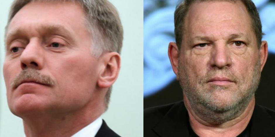 Vocero de Putin califica de prostitutas a actrices que acusaron a Weinstein
