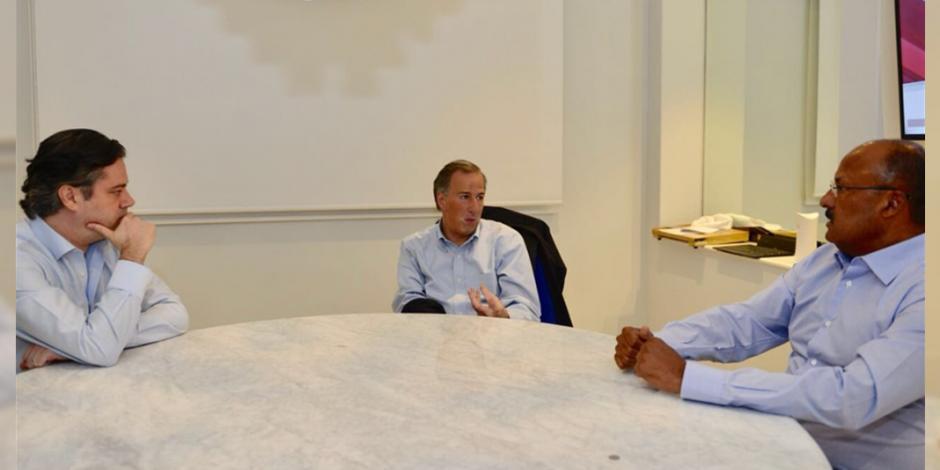 Meade define estrategias de campaña con Aurelio Nuño y René Juárez
