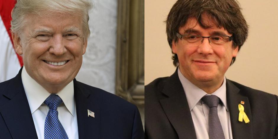 Trump y Puigdemont, en la lista de favoritos para el Nobel de la Paz