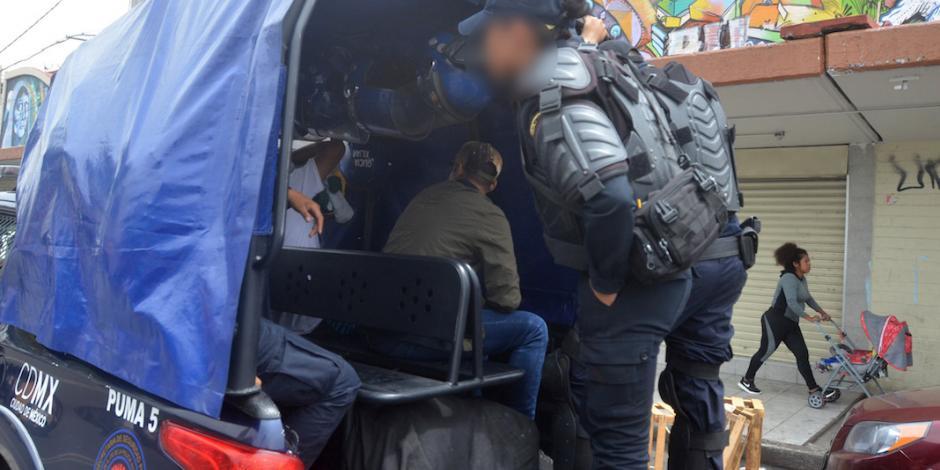 Hallan vínculo familiar de agresor de policía con La Unión Tepito