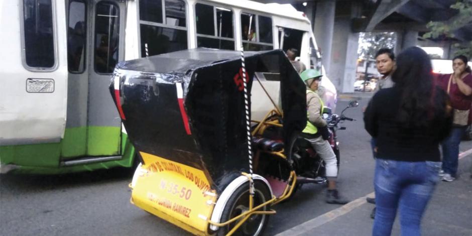 Dejan sector transporte ingobernable en Tláhuac