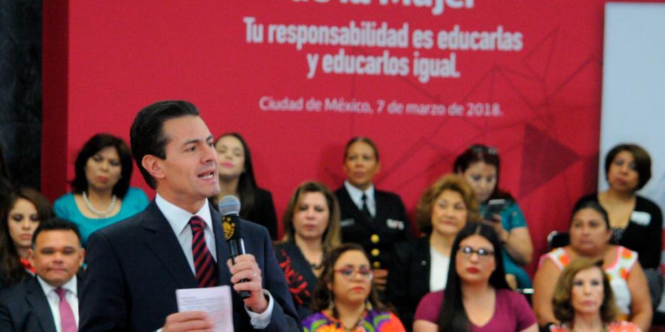 Recalca EPN logros en equidad de género