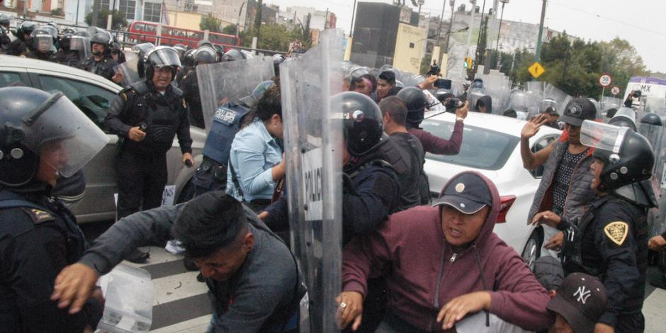 Protesta contra operativos en Tepito termina en enfrentamiento