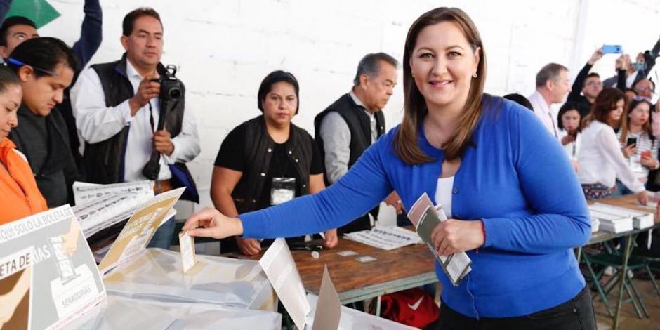 Recuento de votos da ventaja a Martha Erika, asegura vocero
