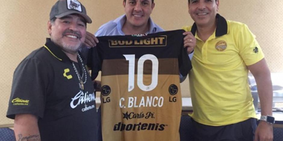 Cuauhtémoc Blanco se reúne con Maradona en Morelos