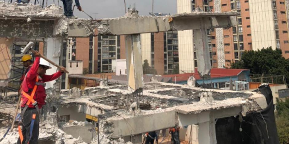 Van 78 inmuebles demolidos en la CDMX tras sismo del 19S